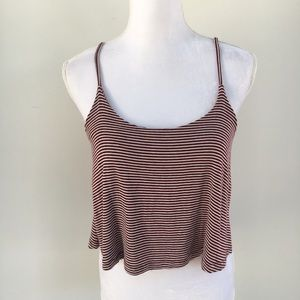 Brandy Melville cropped tank top trapeze small